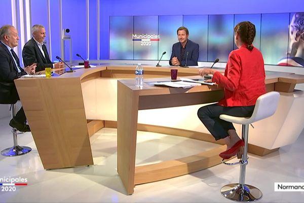 Débat du deuxième tour des élections municipales de Granville sur le plateau de France 3 Normandie avec Dominique Baudry, Gilles Ménard et Denis Féret