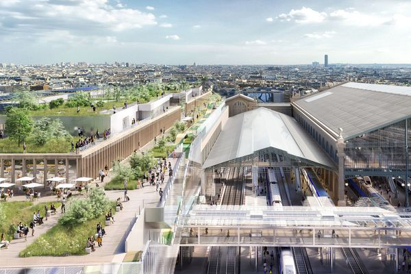 Une vue du projet de rénovation de la Gare du Nord.