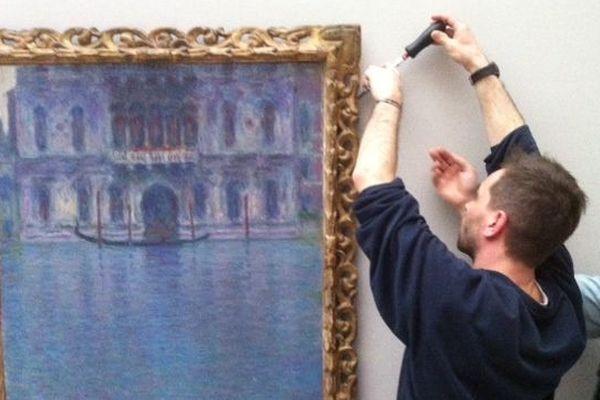 """Palais Dario, 1908, de Claude Monet. Prêté par le musée suisse """"kunst muséum de St. Gallen """""""