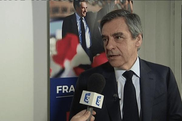 Le candidat de la droite, François Fillon était en Corse samedi 1er avril 2017.