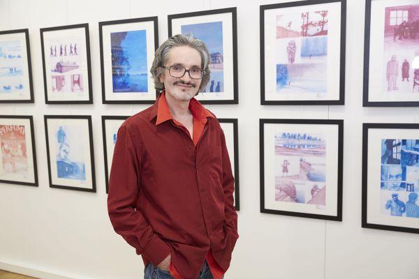 Le dessinateur Gaétan Nocq à la galerie Daniel Maghen - Paris(1er)