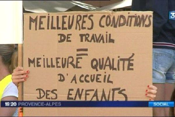 50% des crèches touchées par une grève à Aix