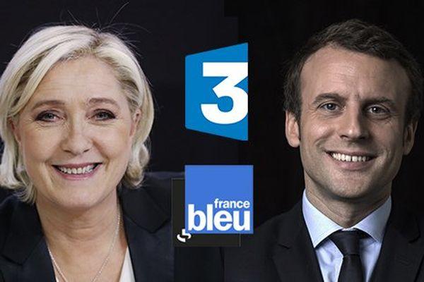 Les candidats du second tour sur France 3 - Marine Le Pen et Emmanuel Macron