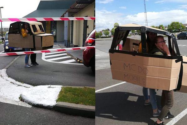La Mc Do mobile d'une famille wallonne à La Louvière (Belgique)
