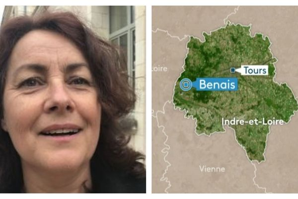 Stéphanie Riocreux, maire de Benais dans l'Indre-et-Loire