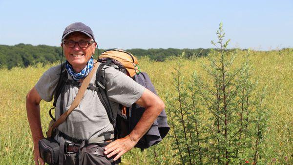 Edward, 77 ans, vaillant et souriant pèlerin écossais sur la Via Francigena