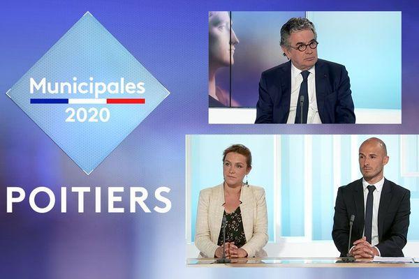 Les candidats aux élections municipales 2020 à Poitiers en débat à France 3 Poitou-Charentes