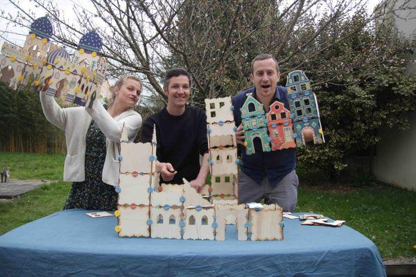 Charlotte, Morgan et Jimmy sont à l'origine d'un nouveau concept de jeu de construction