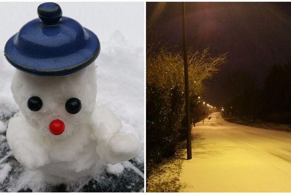 Sur Allaire, le bonhomme de neige veille