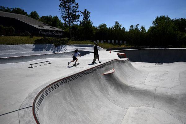 Le skatepark Cosanostra à Chelles - où Charlotte Hym s'entraîne régulièrement -, en juin dernier (illustration).