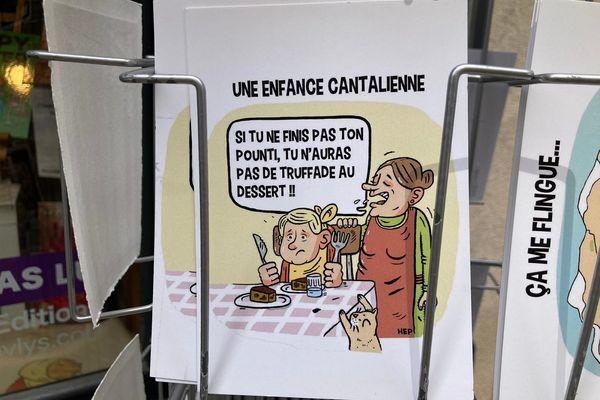 Les illustrateurs mis en avant dessinent le Cantal.