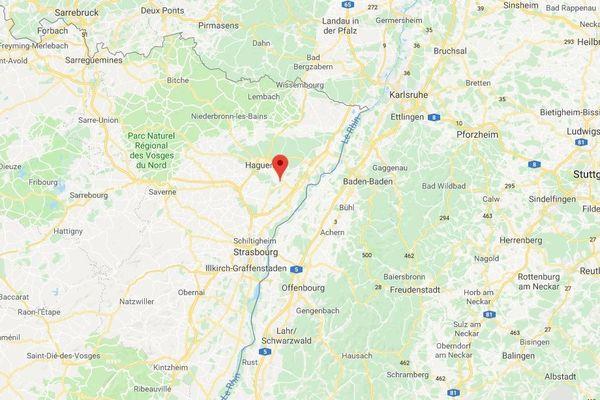 L'incendie a eu lieu rue de la pomme d'or, au centre-ville de Bischwiller.