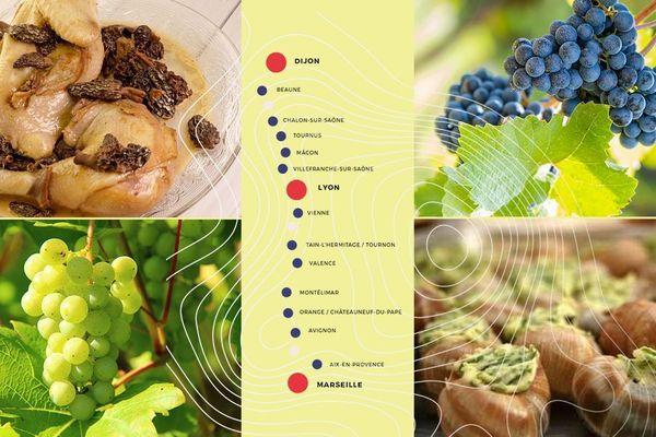 La route de la Gastronomie s'ouvre entre Dijon et Marseille