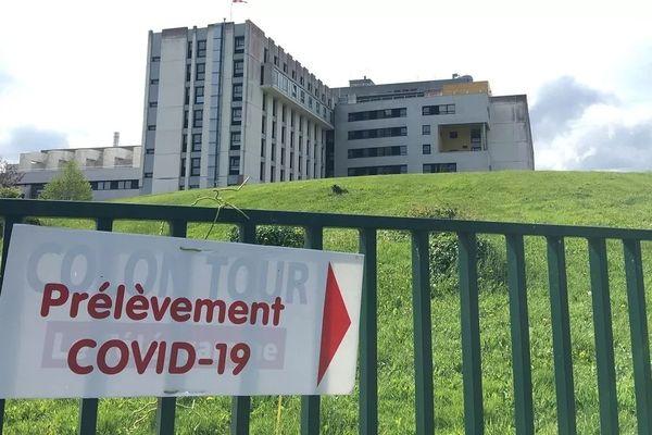 Le Centre hospitalier de Lannion où un cluster a révélé la présence d'un nouveau variant du Covid-19