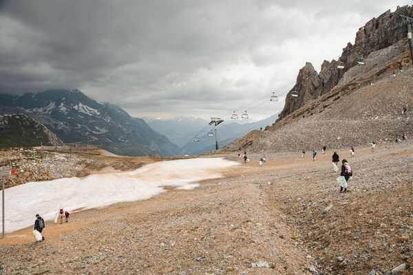 Ramassage des déchets à Val d'Isère