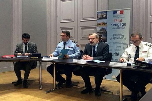 Montpellier - conférence de presse du préfet de l'Hérault sur la délinquance et la sécurité routière - 26 janvier 2017.