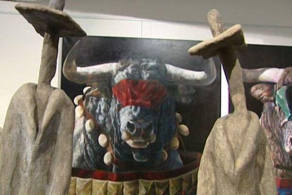 Les oeuvres de l'artiste orléanais Capton exposées à la galerie Courcelles, à Paris.