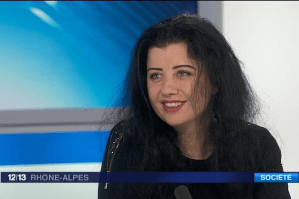 Reem Fadel - Journaliste syrienne - Elle est l'invitée du 12/13 Rhône-Alpes - 5/4/16