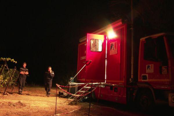 Peyriac-de-Mer (Aude) - le centre de commandement des pompiers de l'Aude - 18 août 2021.