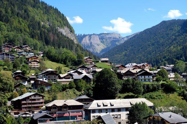 La station de Morzine, en Savoie, le 8 septembre 2020.