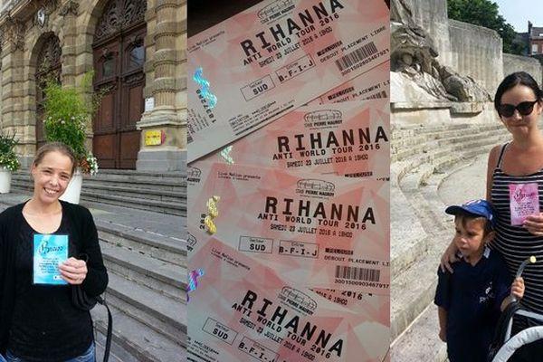 Les premières gagnantes tourquennoises des billets pour le concert de Rihanna.