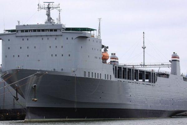 Le roulier MV Cape Ray, photographié à Portsmouth, Virginia, le 6 mai 2012