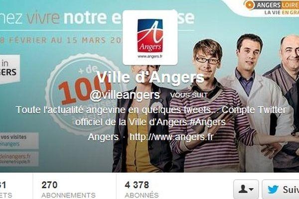 Capture d'écran de la page Twitter de la Ville d'Angers