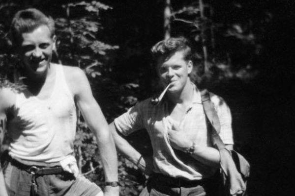 Pascal Lemeland et Louis Bertaux, en 1943, à Prémanon