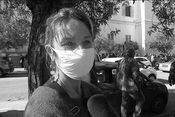 Nadja Mignon, professeure de littérature au lycée Laetitia d'Ajaccio.