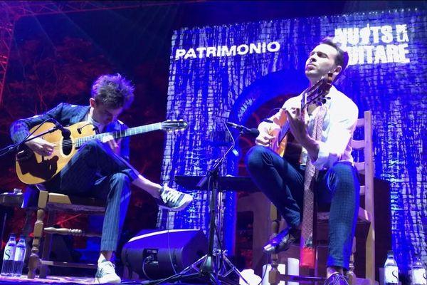 Antoine Boyer et Samuelito lors de l'édition 2017 des Nuits de la guitare de Patrimonio.