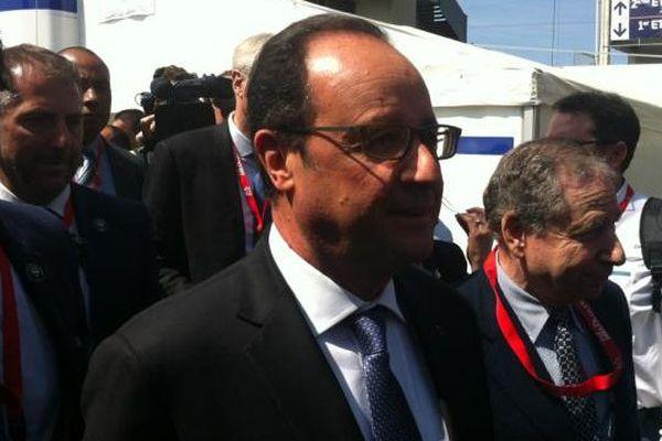 François Hollande à l'occasion du départ des 24 Heures du Mans