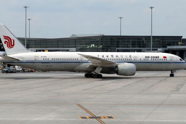 Un avion d'Air China, à l'aéroport de Montréal, le 1er juin 2018.