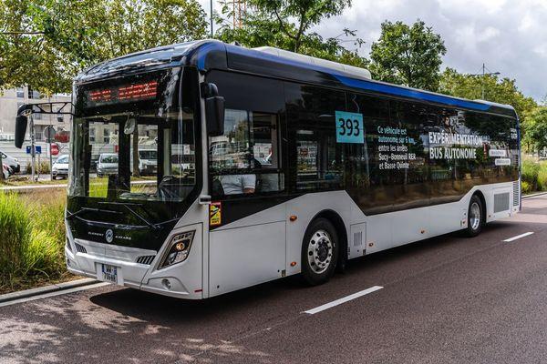 Le bus autonome testé par la RATP.