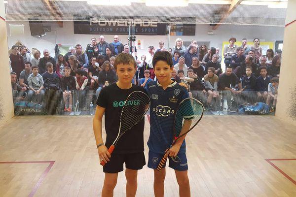 Antonin Romieu, champion de France de squash catégorie U13 ans