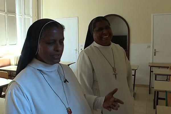 Jacinthe, et Nirmala, deux sœurs de la congrégation de Notre-Dame-de-la-Merci installées à Montpellier - 15 juillet 2018