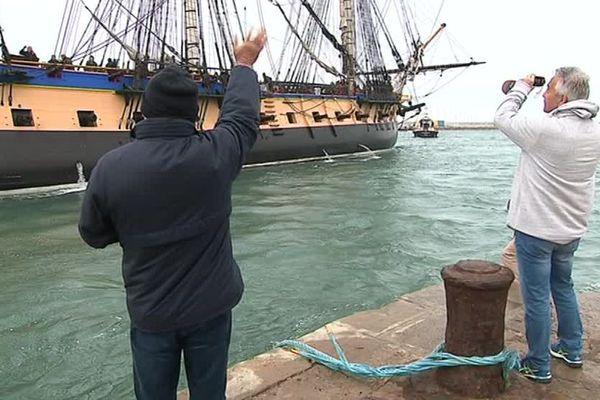 L'Hermione a quitté le port de Sète le 4 avril.