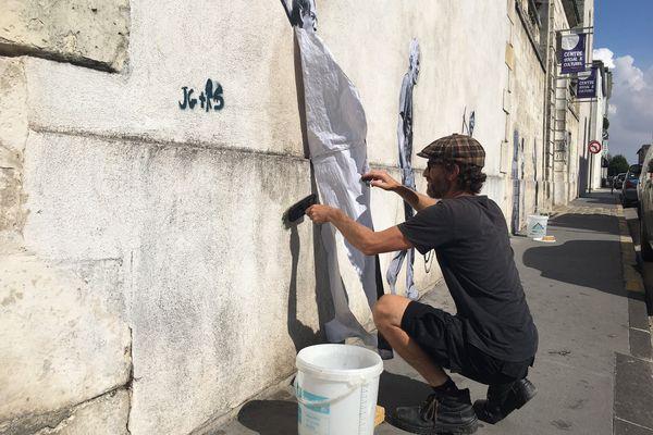 Martin Charpentier, pas un street artist, juste un artiste dans la rue.