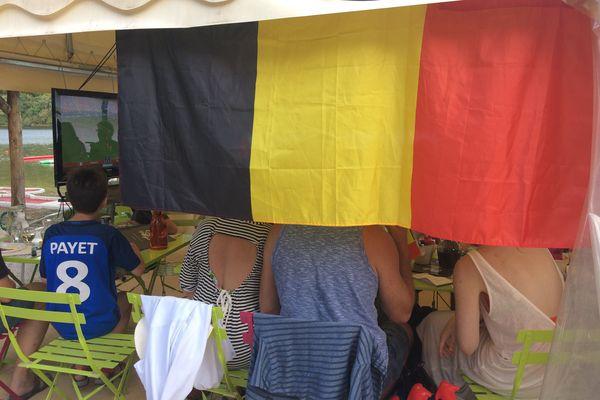 Supporters Belges au camping de Treignac le 10 juillet 2018