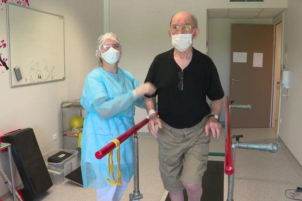 Les patients guéris du Coronavirus réapprennent à se déplacer
