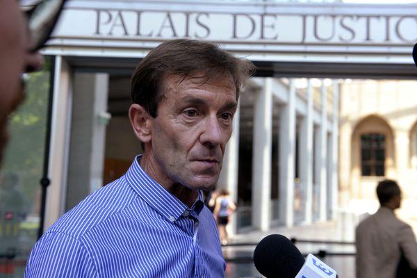 Francis Guiral lors du procès au palais de justice de Toulouse.