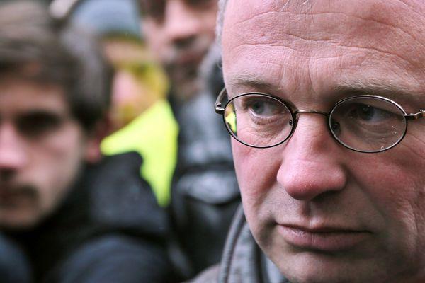 Jean-Pierre Mercier, délégué CGT PSA, en février 2013 à Paris