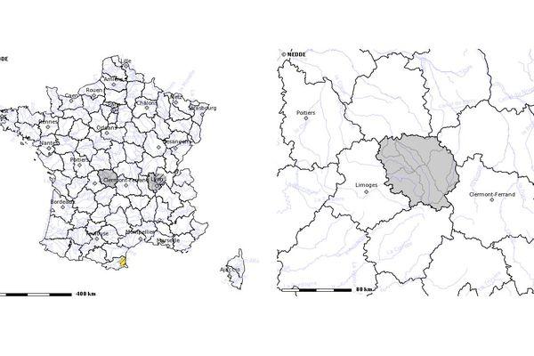 Vigilance sècheresse en Creuse (mars 2019). Source : http://propluvia.developpement-durable.gouv.fr
