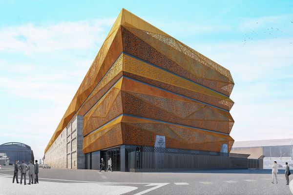 Futur data center baptisé MRS3, dans les bassins Est du port de Marseille