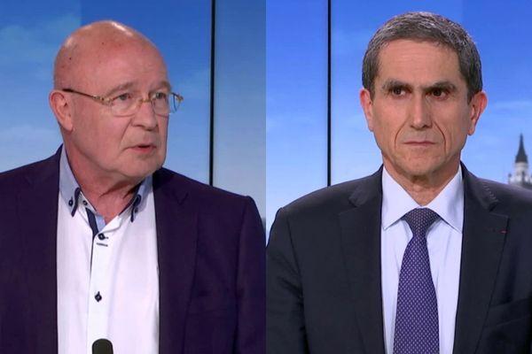 Invités du 19/20 de France 3 Nord-Pas-de-Calais, Daniel Camus le 06 août 2020 et Philippe Amouyel le 16 mars 2021.