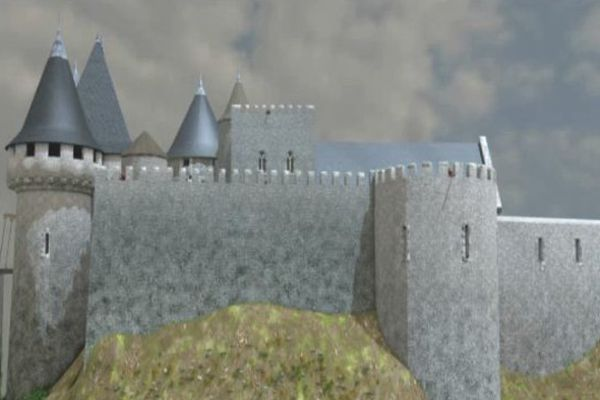 Les images de synthèses ont permis d'établir une reconstitution du château d'Ivry-la-Bataille.