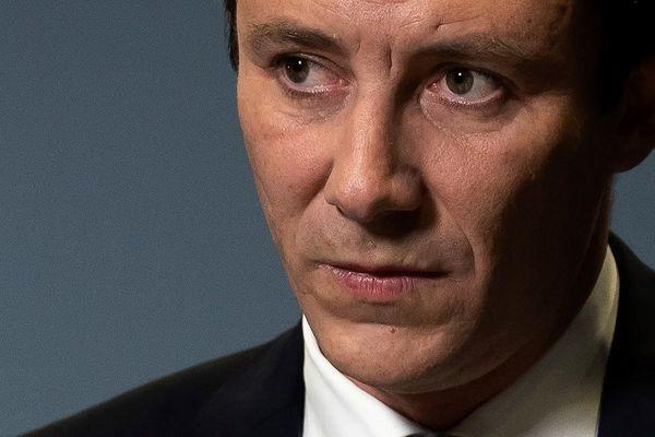 Benjamin Griveaux lors de l'annonce du retrait de sa candidature à la mairie de Paris, le 14 février.
