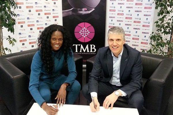 Emilie Gomis et Philippe Tedesco, vice-président exécutive du TMB