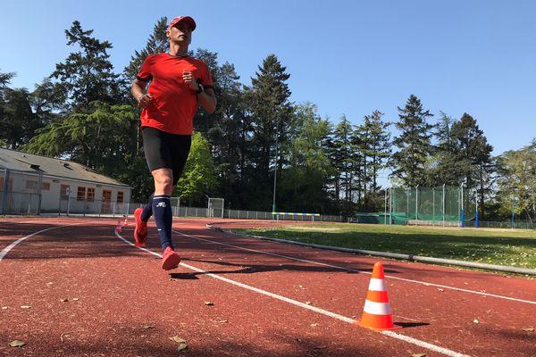 Erik Clavery à l'entraînement, le 21 avril 2021