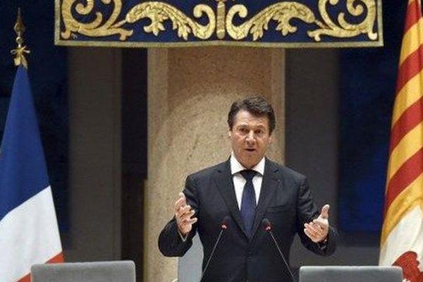 Christian Estrosi le jour de son investiture au conseil régional à Marseille