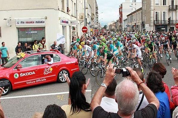 Carcassonne - le départ de la 16e étape du Tour de France dans la capitale audoise - 22 juillet 2014.